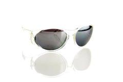 biały odosobneni okulary przeciwsłoneczne Obraz Stock