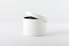 Biały pudełko na bielu Fotografia Stock