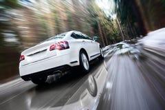 Szybki poruszający samochód Obrazy Royalty Free