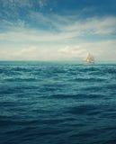 Biały statek Obrazy Stock