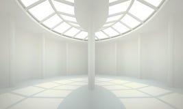 Biały wnętrze nonexistent budynek Obrazy Stock