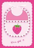 Bib with strawberries Royalty Free Stock Photos