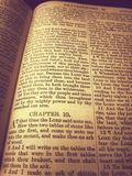 Bibal. Old Holy Bible in catholic church Royalty Free Stock Image