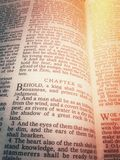 Bibal. Old Holy Bible in catholic church Stock Photography