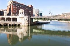 Bibao,西班牙桥梁市政厅 图库摄影