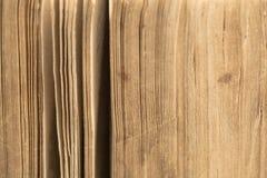 Bibbia antica - vecchio libro - primo piano delle pagine Fotografia Stock