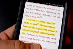 Bibbia app immagine stock libera da diritti