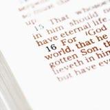 Bibbia cristiana. Immagini Stock