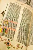 Bibbia di Gutenburg Immagine Stock