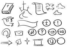 Bibbia doodle2 Immagini Stock