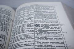 Bibbia finlandese Fotografie Stock