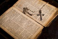 Bibbia santa antica Fotografie Stock Libere da Diritti