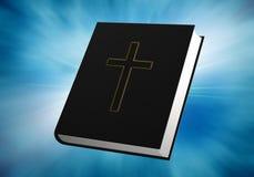 Bibbia su priorità bassa blu Fotografie Stock