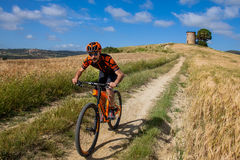 Bibbona, Tuscany, Italy - May 24, 2016: lifestyle Mountain bike Royalty Free Stock Images