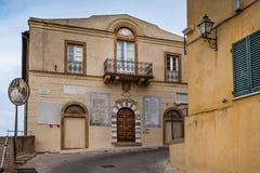 Bibbona Val Di Cecina, Λιβόρνο, Τοσκάνη, Ιταλία - παλαιό κάθισμα Στοκ Φωτογραφίες