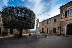 Bibbona in Val di Cecina, Livorno, Toskana, Italien - Monument Stockbild