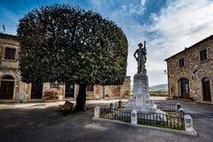 Bibbona in Val di Cecina, Livorno, Toskana, Italien - Monument Lizenzfreies Stockfoto