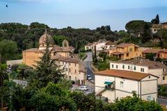 Bibbona in Val di Cecina, Livorno, Toskana, Italien - Panorami Lizenzfreie Stockfotografie