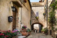 Bibbona w Val Di Cecina, Livorno, Tuscany, Włochy zdjęcia royalty free