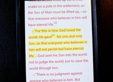 Bibel app Arkivbilder