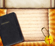 Bibel-Collage Stockfoto