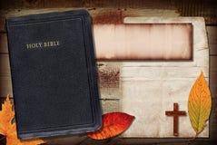 Bibel-Collage Stockbild