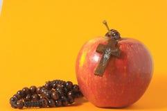 Bibel-Eva Sünden-Rot Apple Lizenzfreie Stockfotografie