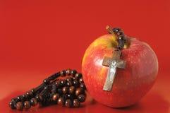 Bibel-Eva Sünden-Rot Apple Stockbilder