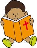 Bibel-Kind lizenzfreie abbildung