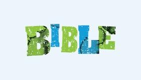 Bibel-Konzept gestempeltes Wort Art Illustration vektor abbildung