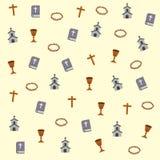Bibel-, kyrka- och klosterbroderbeståndsdelar vektor illustrationer