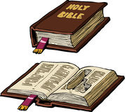 Bibel med gömstället Arkivfoto