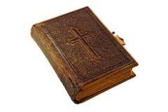 Bibel mit Kreuz Stockfoto
