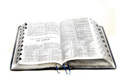 Bibel-neues Testament Johannes Stockfoto