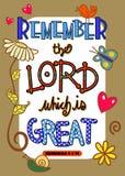 Bibel-Schrift Art Poster Stockbild