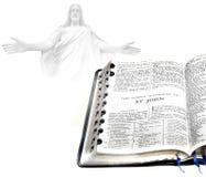 Bibel St John och Jesus Royaltyfria Bilder