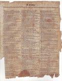 Bibel-Tabelle Stockbild