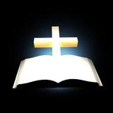 Bibel und Kreuz Stockfotos