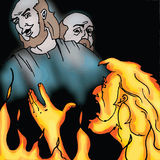 Bibelberättelser - rikeman och Lazarusen Arkivfoton