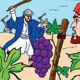 Bibelgeschichten - die Parabel der Pächter Lizenzfreie Stockfotos