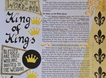 Bibelkunst, die über König von Königen zapft vektor abbildung