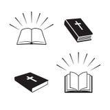 Bibeln bokar symboler Arkivbild