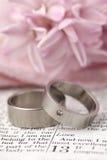 bibeln ringer bröllop Arkivbild