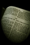 bibeln skriva en krönika över serie för sepia ii Royaltyfri Foto