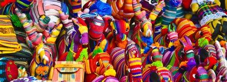 Bibelots tissés sur métiers à main de Belize Image libre de droits