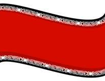 bibeloty czerni tła czerwono swoosh ilustracja wektor