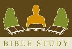 bibelstudy stock illustrationer