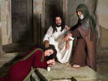Bibelszene mit Mary von Bethany lizenzfreie stockfotografie