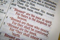 Bibeltext mit dem Segen Lizenzfreie Stockfotos