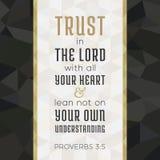 Bibelvers för kristen eller katolik om förtroende i gud stock illustrationer